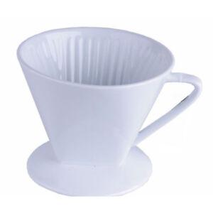 Kaffeefilterhalter 1x4 Porzellan Kaffee Filter Kaffeebereiter Dauerfilter 1 Loch