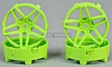 Tetsujin SOUTHERN CROSS RC Car Wheels GREEN Adjustable Offset 3-6-9mm -4 RIMS