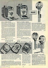 1953 ADVERT Busch 4 X 5 Model D Pressman 2 1/4 X 3 1/4 Camera Spartus Foldex