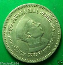 1 rupee 1989 Mumbai - Bombay mint Jawaharlal Nehru centenary commemorative coin