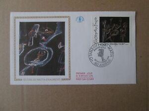 enveloppe 1er jour 1991 oeuvre de matta fragment tableau noir