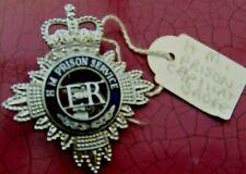 H.M Prison Service. Large Cap/Hat Badge? J.R Gaunt Brhm.