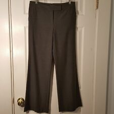 Womens Size 6P 6 Petite ANN TAYLOR Gray wide leg Dress Pants Slacks Buckle Back