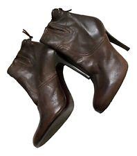 Paul Smith  Ladies Stiletto Brown Leather Boots    UK 6 EU 39