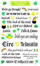 Mrs. Grossman's Giant Stickers - Card Captions Ireland - Erin go Bragh -2 Strips