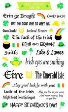 Mrs. Grossman's Giant Stickers - Card Captions Ireland - Erin go Bragh -2 Strips