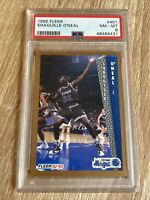 1992 Fleer Shaquille O'Neal #401 Rookie Card *PSA 8* Orlando Magic & Lakers 👀📈