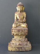 Bouddha AVA en Bois de Birmanie XIXème