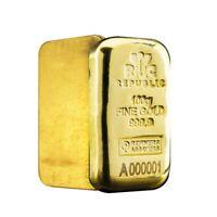 100 gram Republic Metals (RMC) Gold Bar .9999 Fine Serial # A000001 (w/Assay)