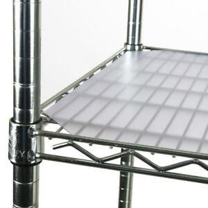 """NEW 6-pk  Fitted 18"""" Deep x 48"""" Wide  Polypropylene Graphite Shelf Flex Liners"""