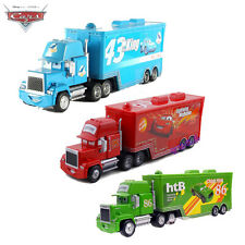 Disney Pixar Cars 3pcs Mack/King/Chick Hicks Hauler Trucks cars toys gift