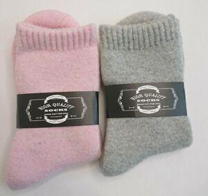 ProEtrade Wool Socks x 2 Walking Winter Warm Thick Thermal Boot Cosy Crew UK 4-9