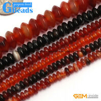 """Colorful Agate Rondelle Loose Spacer Beads For Jewelry Making Free Shipping 15"""""""
