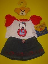 BUILD-A-BEAR I LOVE HELLO KITTY NEW YORK BIG APPLE OUTFIT Denim Patriotic