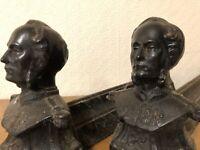 Charles X Napoléon III Paire de Chenets Fonte Cheminée Ancien Empire