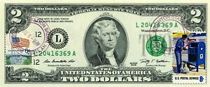 $2 DOLLARS 2009 STAMP CANCEL POSTAL SERVICE EMPLOYEES LUCKY MONEY UNIQUE $99.95