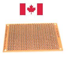 5Pcs Prototype PCB Perfboard Single Sided. DIY Circuit Board. 50x70mm. Canada