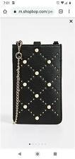 Kate Spade pearl phone iphone Sleeve crossbody bag Pouch Wallet ~NWT $148~ Black