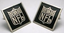 🏈 Vtg. 1967 STERLING Silver NFL National Football League advertising cufflinks