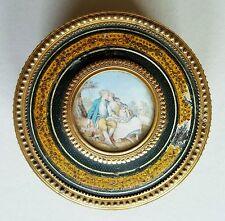 Vernis Martin Lack - Dose mit Miniatur, Frankreich 2. Hälfte 18. Jahrhundert