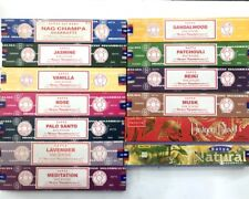 Incense sticks 15 Box Fresh Nag Champa Satya Incense Stick BULK RANDOMLY PICK