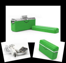 2800MAH PORTABLE EXTERNAL GREEN BATTERY CHARGER USB IPHONE 4S 4 3GS IPOD NANO