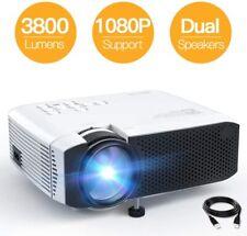 Full HD 1080P 3800 Lumens Wireless Portable Home Cinema Movie Video Projector