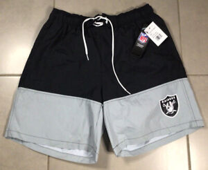 NWT Men's G-III Oakland Raiders Swim Trunks Sz L large Shorts Jersey Las Vegas