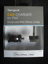 Targus  Mobile Car Charger  Apple IPHONE 3 3G  4 4S IPAD IPOD  Brand New 2.1 amp
