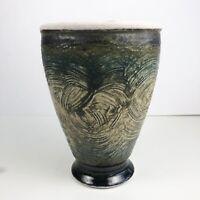 Mid Century Vintage California Studio Ceramic Pottery Vase Art Vessel Signed