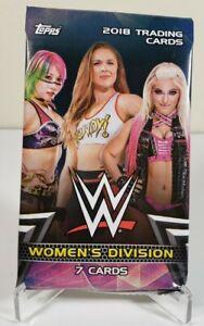 New Sealed 2018 Topps WW Women's Division Wrestling Cards 11 pack Rip/Ship Break