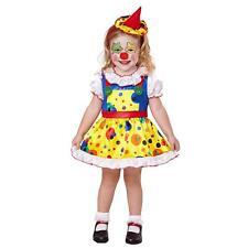 WIDMANN Costume per bambina da clown 4-5 anni