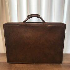Vintage HARTMANN Belting Leather Briefcase Attache Paisley Interior W/ Keys