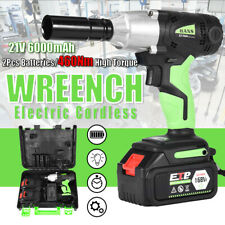 2 x Battery 1/2in Cordless Electric Impact Wrench G-un Drill Tool Fast Charge
