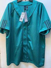 Adidas Men's Athletic Sports Baseball Jersey Green/Black EI6602 Size XL