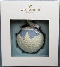 Wedgwood Blue Jasperware  Christmas Carol Singers Carolers Ornament New in Box