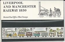 Great Britain # 904-08 British Post Office Stamps-Liverpool/Manchest er Railway