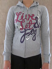 NIKE The Athletic Dept Womens 454656 Gray Zipper Hoodie Top Shirt Size SMALL NWT