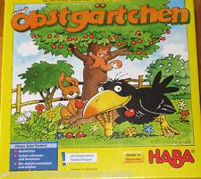 Haba Spiel Obstgärtchen ab 3 Jahre mit 3 D Kirschbaum und 2 Spielvarianten 4460