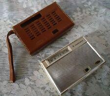 AMC Transistor RADIO vintage leather case Japan  model TR-83  FREE SHIP
