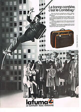 PUBLICITE ADVERTISING  1985   LAFUMA   bagages le combibag