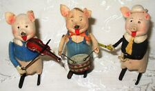 Antique Schuco Germany Three Little Pigs, Wind-Up Tin Toys