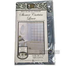Heavy Duty Vinyl Magnetic Shower Curtain Liner with 12 Metal Grommets