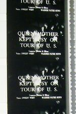 QUEEN MOTHER KEPT BUSY ON  TOUR OF U.S. 16MM FILM MOVIE ROLLED NO REEL W41