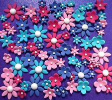 *** 80 Edible Flowers BIRTHDAY CAKE DECORATIONS WEDDING CUPCAKE TOPPERS ***