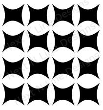 Modified Square Pattern Stencil, Square, Wall Stencil ,Mylar Stencil, Reusable