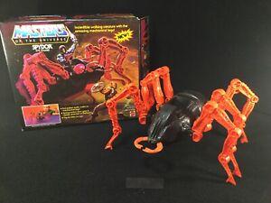 VINTAGE MASTERS OF THE UNIVERSE SPYDOR EVIL STALKER W/BOX SKELETOR 1984 MATTEL