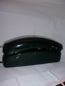 AT&T 210 Corded Trimline Forest Green Pushbutton Telephone Landline Working EUC