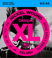 3 Sets D'Addario EXL120+ -3D Super Light Plus Electric Guitar Strings 9.5