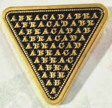 ABRACADABRA Occult Amulet Magic Symbol Alchemy Wicca Witch Wizard Spell Pin 666